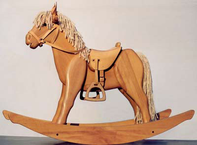 wooden rocking horse designs